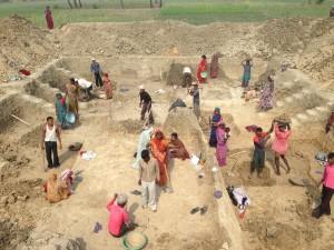 MGNREGA worksite in Bihar