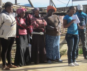 Langrug informal settlement Cape Town residents group